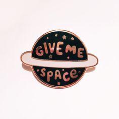 Give Me Space Enamel Lapel Pin | Enamel pin / pin game / pin badge / cute pin by stephsayshello on Etsy https://www.etsy.com/listing/495366175/give-me-space-enamel-lapel-pin-enamel