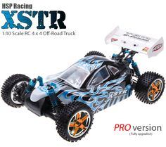 HSP XSTR Off-Road Buggy (1/10 Blue & Black Flame Pro Edition) - HSP-CAR-94107pro-106ma2