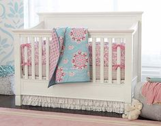 I love the Pottery Barn Kids Brooklyn Pink on potterybarnkids.com .... love this bedding !!!!!!!!!