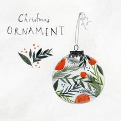 A Christmas ornament for the @the_portfolio_project #foliage #christmasdecoration #portfolioproject #portfolioproject12days