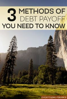 Struggling to figure out a plan for paying off your debt? These 3 methods of debt payoff will help you come up with an effective strategy to paying it off.