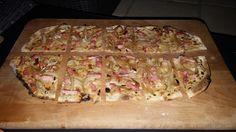 On change un peu de la pizza traditionnelle… Laflammekueche est simple à réaliser et si bonne. Ingrédients : 1 pâte à pizza 50 g de crème fraîche épaisse 100 g de fromage blanc 150 à 200 g d…