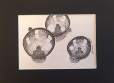 """Entitled """"Ornaments"""" done in pen foundations art. Sold at frames for futures"""