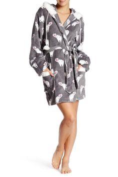 Gift Elle Faux Fur Trim Robe by PJ SALVAGE on @HauteLook