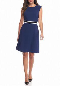 Nine West Colorblock A-line Dress