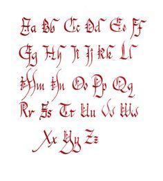 Alphabet Celtique Pour Tatouage Chancelière
