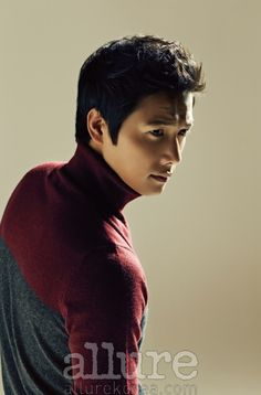 Lee Sang Woo is super stylish in Allure magazine, in a Jill Stuart turtleneck.
