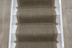 Sisal Pewter Tigereye Stair Runner with border Loft Flooring, Flooring Ideas, Floors, Sisal Runner, White Stairs, Stair Steps, Stairway To Heaven, Carpet Stairs, Hallway Decorating