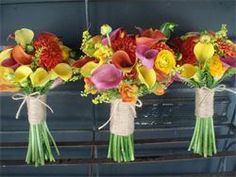 Colorful Summer Bridesmaid Bouquets