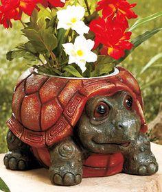 Chubby Animal Planter-Turtle