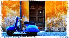 Rome by Vespa. Si, si!