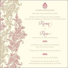 We printed Ross and Reena's gorgeous Hima invitations for their wedding celebration back in September.