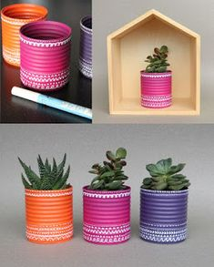 Ideias para reciclar latas e ajudar a natureza. - A Arte do Fazer