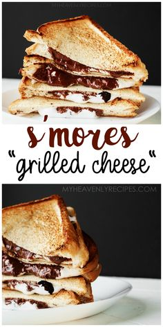 S'mores Grilled Cheese- grilled dessert to make for summer time! Fun unique dessert to make for the kids or a party. Unique Desserts, Desserts To Make, Cookie Desserts, Delicious Desserts, Grilled Desserts, Grilled Cheese Recipes, Decadent Chocolate, Chocolate Desserts, Fun Food