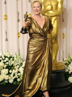 Best Actress Winners' Oscars Gowns...Meryl Streep, 2012  Won her second Oscar for her portrayal in The Iron Lady