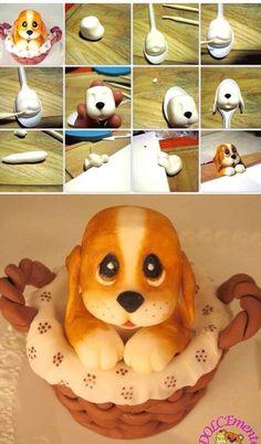 一步步教你做可爱的翻糖玩偶 可爱小狗