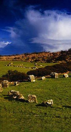 Bronze Age Megalithic Beaghmore Stone Circle,County Tyrone (2600B BC) Northern Ireland UK