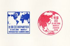 出入国スタンプ  Graphic / 2006