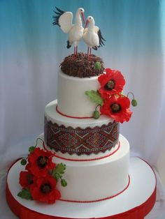 ррр Wedding Cake Designs, Wedding Cakes, Bolo Floral, Poppy Cake, Birthday Traditions, Ukrainian Recipes, Cookie Desserts, Celebration Cakes, Tiered Cakes