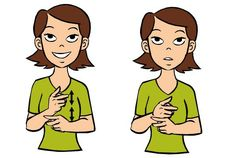 Video: Be Careful in Baby Sign Language Signing: Be careful in ASL, starts with both hands as a fist with your index finger extended and your middle finger extended at 90 degrees to your palm. Sign Language Colors, Simple Sign Language, Sign Language For Kids, Sign Language Phrases, Sign Language Alphabet, Learn Sign Language, American Sign Language, Deaf Sign, Asl Signs