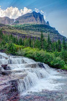Pyramid Creek Falls, Glacier National Park, Montana