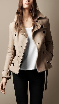 0984b12ce364 Belted Shearling Jacket   Burberry Burberry Prorsum, Burberry Brit, Burberry  Jacket, Shearling Jacket