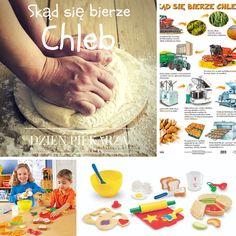 Jak powstaje jeden z podstawowych elementów naszego żywienia? Zobacz plansze, książeczki, zestawy do zabaw w role piekarzy i cukierników i buduj przez zabawę szacunek do żywności i pracy innych. http://sklep.educarium.pl/educarium.php?section=1&kategoria=9589&subkategoria=9590&produkt=8062 http://sklep.educarium.pl/educarium.php?section=1&sub=szukaj&szukanafraza=chleb
