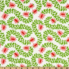 Michael Miller Pillow & Maxfield Christmas Meandering Vines Lawn Green - one yard