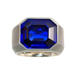 Hemmerle An Exceptional Royal Blue Burma Sapphire Ring