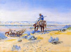 Changing Horses by Charles Marion Russell, Oil Painting Reproduction, 34 x 24 Charles Marion Russell, Horse Oil Painting, Oil Painting Reproductions, Le Far West, American Artists, Great Artists, Art History, Horses, Art Prints