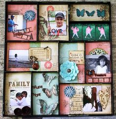 altered chipboard organizer. Unity stamps, bo bunny papers.. this was a fun project.