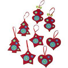 Enfeite de Árvore em Feltro POP 8 Unidades - Christmas Traditions