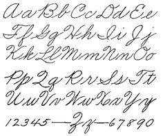 Palmer Method - loved penmanship (it was a class in school - back in the day)