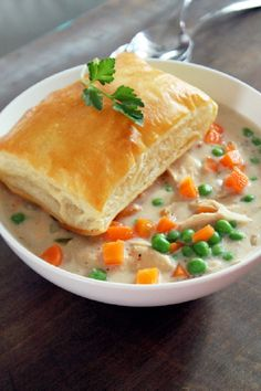 This fall, curl up with this slow-cooker chicken pot pie while watching Netflix.