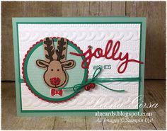 A La Cards: Jolly Monday - SU - Cookie Cutter Christmas, Holly Jolly Greetings Christmas Cards 2018, Stampin Up Christmas, Christmas 2016, Xmas Cards, Handmade Christmas, Holiday Cards, Stampin Up Cookie Cutter, Xmas Theme, Mini Albums