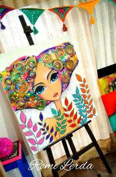 renata's media content and analytics Painting For Kids, Art For Kids, Rasta Art, Pop Art, Art Sketchbook, Portrait Art, Face Art, Doodle Art, Art Tutorials