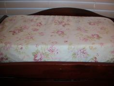 Shabby Chic Floral Changing Pad Cover by MiaBellaPillowCo on Etsy, $24.00