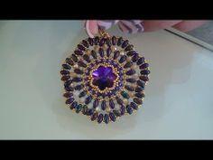 """Tutoial Perline: Ciondolo/Orecchini """"Cristallo Dell'Anima"""" realizzato con superduo, swa e cristalli - YouTube"""