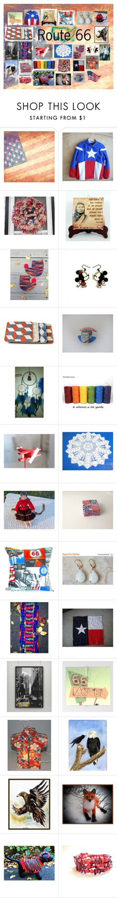 """""""Route 66: Vintage and Handmade Gifts"""" by paulinemcewen ❤ liked on Polyvore featuring Harley-Davidson, TAXI and vintage"""