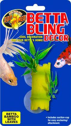 Betta Bling™ Decor - Bamboo w/ Leaves