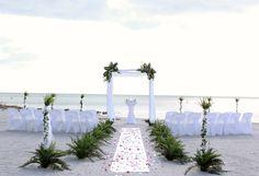 simple white beach wedding