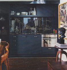 so sexy cool navy, shiny kitchen