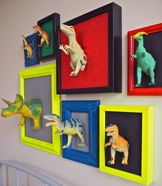 DIY This Dinosaur Art Gallery Wall With Gorilla Super Glue Precise Gel dinosaur art with gorilla glue Dinosaur Kids Room, Boys Dinosaur Bedroom, Dinosaur Room Decor, Dinosaur Nursery, Dinosaur Art, Dinosaur Toys, Dinosaur Display, Dinosaur Decorations, Dino Toys