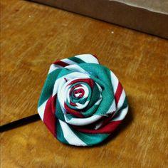 Holiday flower hair clip