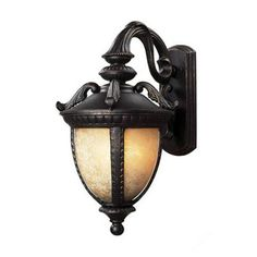 Z-Lite Winchester Collection Black Gold Finish Outdoor Wall Light