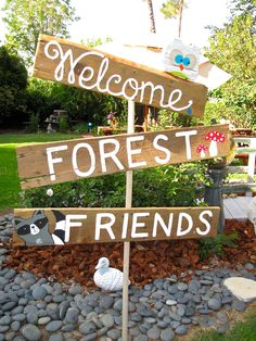 Sign I made for a Woodland Baby Shower sofiagraphicdesign.com