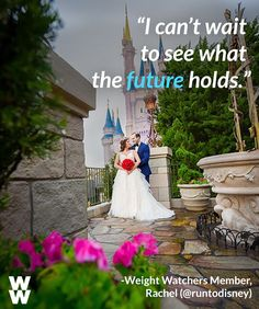 "Motivation time: Weight Watchers bride Rachel says, ""When I started WW my goal was to be able to look at my wedding pictures with pride and happiness. Now that the wedding is over I am so happy that WW has become a way of life for me instead of feeling like I'm just on another restrictive diet."""
