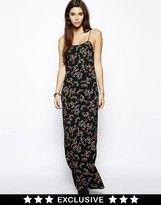 Daisy Street Floral Cami Maxi Dress with Thigh Split - Multi