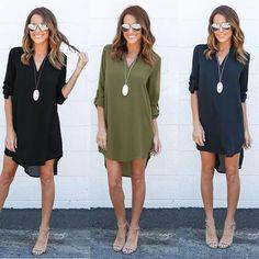 cdcfb8cdfdb STAINLAZARD Bohemian Casual Summer Women Blouses Long V Neck Chiffon Beach  Ladies Shirts Fashion Clothing Women