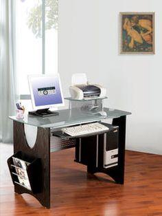 modern glass ergonomic desk
